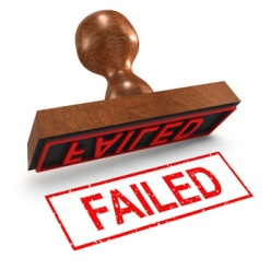 """3d Rubber Stamp - """"Failed"""""""